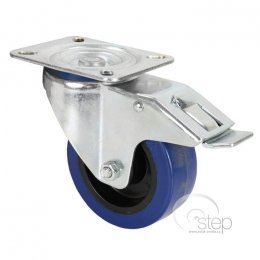 Adam Hall 100mm swivel castor, double ball race, with braked whee...